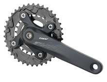 mtb chainwheel and crankset with alloy crank arm and steel chain ring A24-DS230