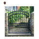 custom decoration modern main small iron arch gate for boundary wall IGZ-016