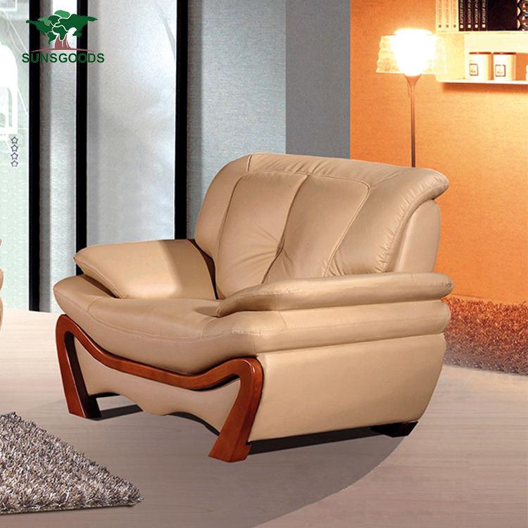 Alta calidad muebles de sala sofá de cuero, muebles de la Sala sofá de lujo