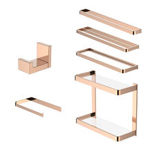 DIY Black Chrome Rose Gold Brass Bath Hardware Set Bathroom Accessory