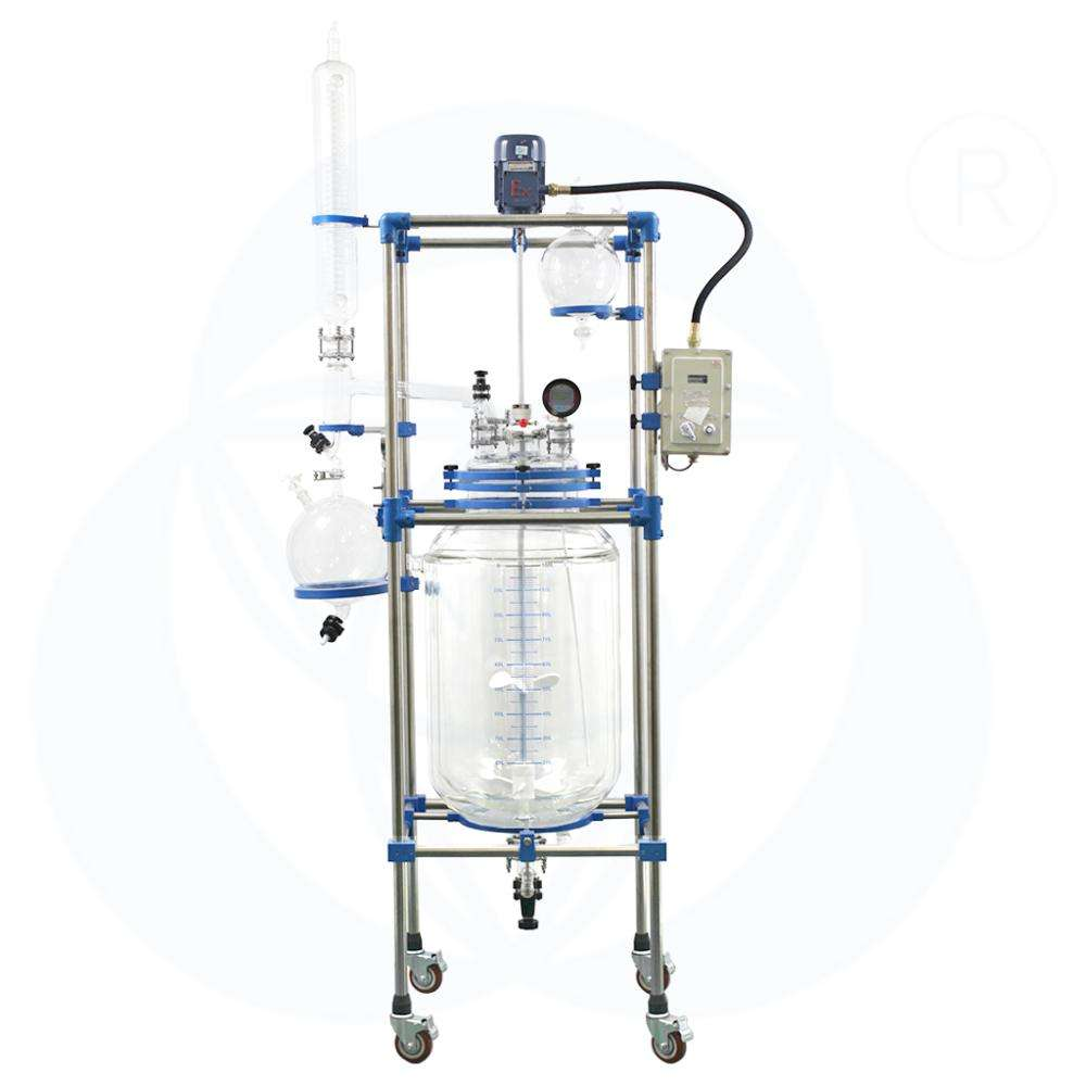 Personalizado doble <span class=keywords><strong>pared</strong></span>/doble capa 200 l 200 litro reactor <span class=keywords><strong>de</strong></span> vidrio