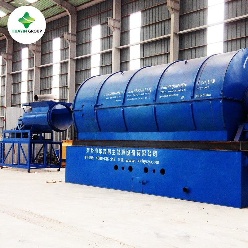 Recycling waste tire rubber to diesel fuel oil pyrolysis machine