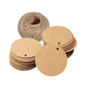 High quality Recycled Round Brown Kraft Paper Product Hang Tags