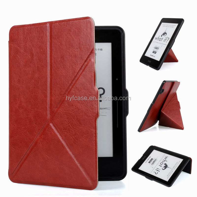 Cho Kindle Voyage Bảo Vệ Leather case Slim transformers Ebook bìa cho Amazon Kindle Voyage trường hợp
