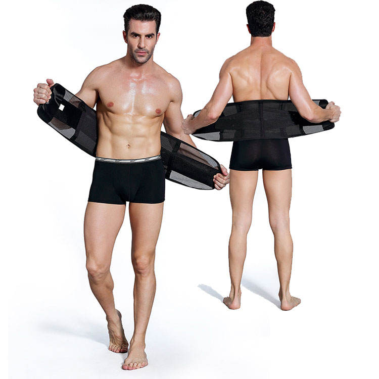 Breathable Tight Black Abdominal Binder Waist Belt Men's Belly Slim Body Shaper