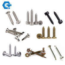 Customized screw fastener m2 m4 m12 m16 stainless steel self tapping screws 304 316l metal screw
