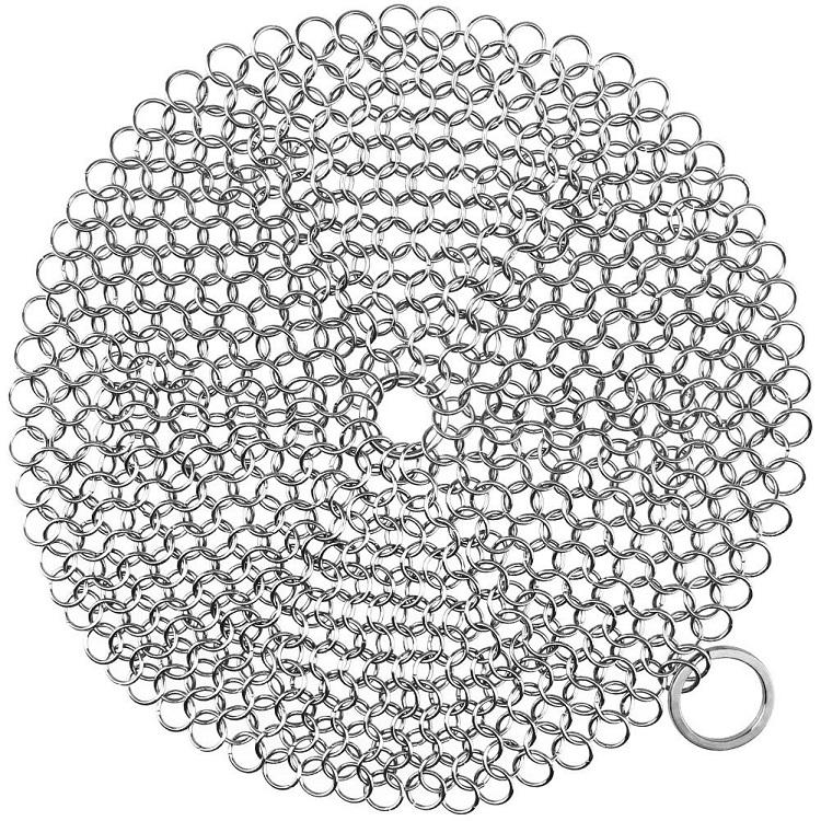 Rvs <span class=keywords><strong>Chainmail</strong></span> <span class=keywords><strong>Scrubber</strong></span> Gietijzeren Cleaner Pan Scrubbers