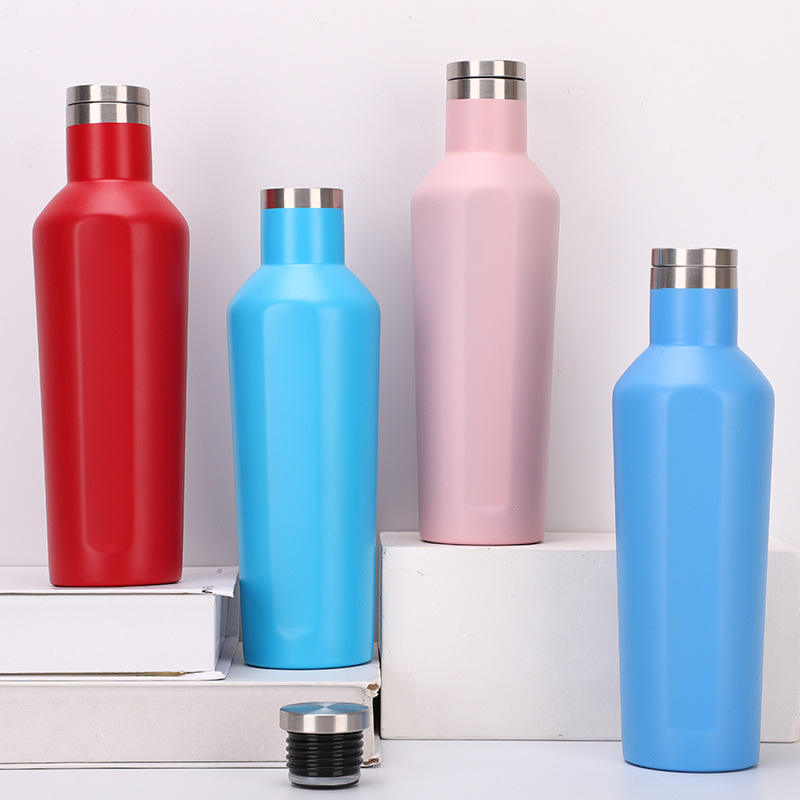 500ml Promotional Custom Logo Double Wall Stainless Steel Insulated Vacuum water bottle sport Wine Flask