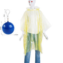 Easy Carry disposable LDPE Rain Gear/Raincoat In Ball