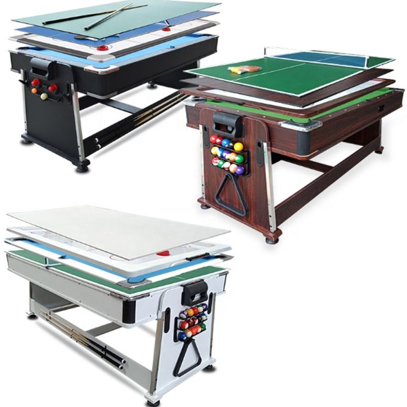 4 In 1 <span class=keywords><strong>Pooltafel</strong></span> Air Hockey Sprin Rond Zwembad Tafel Met Air Hockey Tafel, Tennis Tafel, eettafel