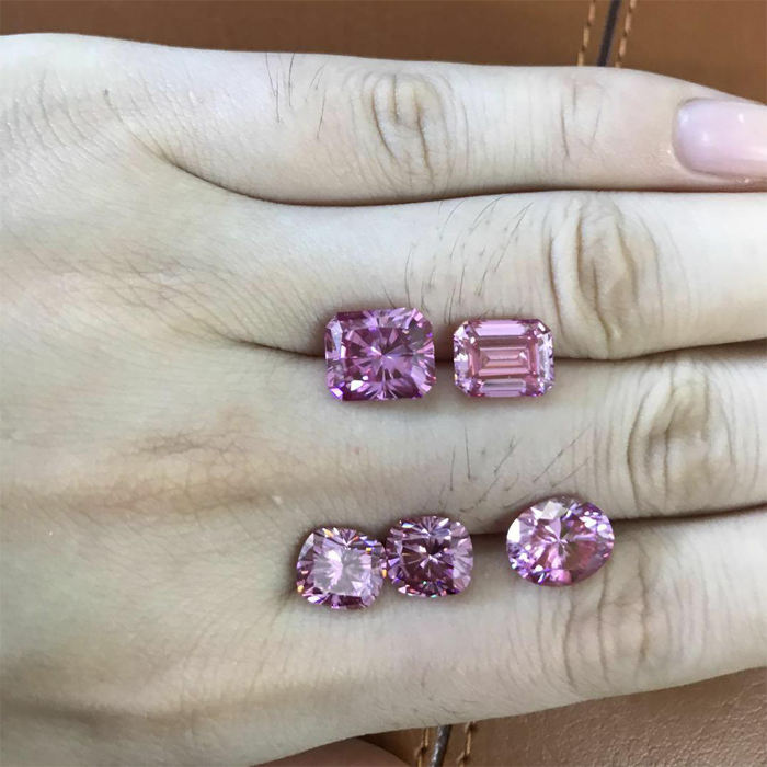 manufacturer india pink color moissanite for rings