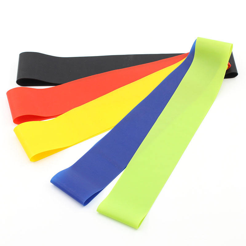Custom Fitness Resistance Bands Set Van 5 Elastische Latex Rubber Hip Weerstand Band Set