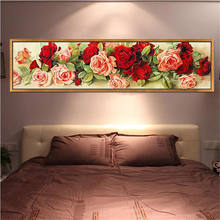 5d crystal diamond painting kit red rose flower Diamond Embroidery Floral