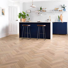 Naturally Inspired French & European Oak Engineered Parquetry Herringbone Flooring