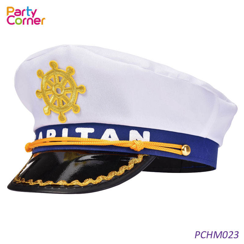 Sailor Captain Cap Witte Hoed Outfit Accessoire Nautische Marine Zee Fancy Dress
