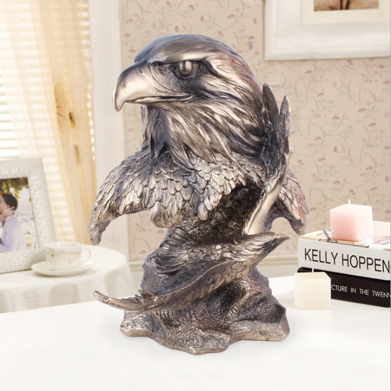 Custom European Eagle Resin Home Decoration Creative Resin Crafts With Low Price For Souvenir Gifts