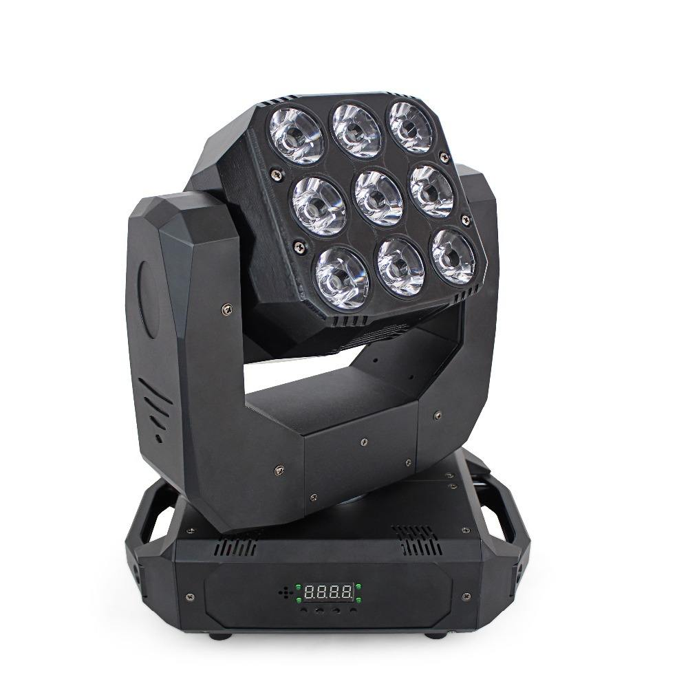 New design infinite rotating double face 9pcs golden beam + 12pcs RGBW 4 in1 wash DMX512 Led beam moving head stage light