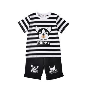 Summer 100% Cotton Puppy Boys Cool Style Clothing Sets Kids T-shirt
