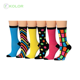 KOLOR-II-0570 cotton socks women's women socks ladies underwear socks