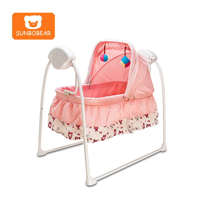 Aluminum metal automatic electric swing baby cradle bed for new born baby