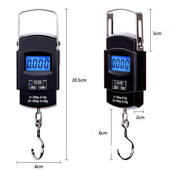 50kg/10g Weight Scale LCD Display Portable Electronic Travel Hanging Luggage Scale