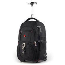 2019 new arrival outdoor fashion high capacity laptop travel trolley backpack