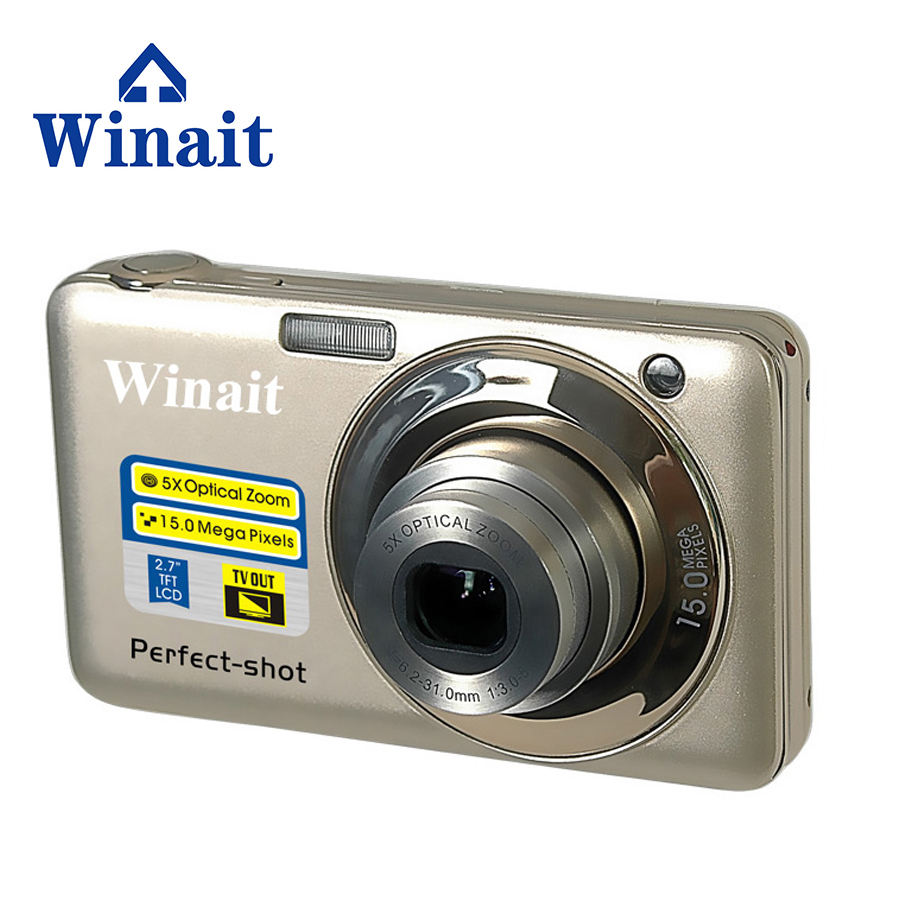 Winait 2017 popular DC-V600 digital camera with 8x optical zoom, 4x digital zoom Electronic shutter