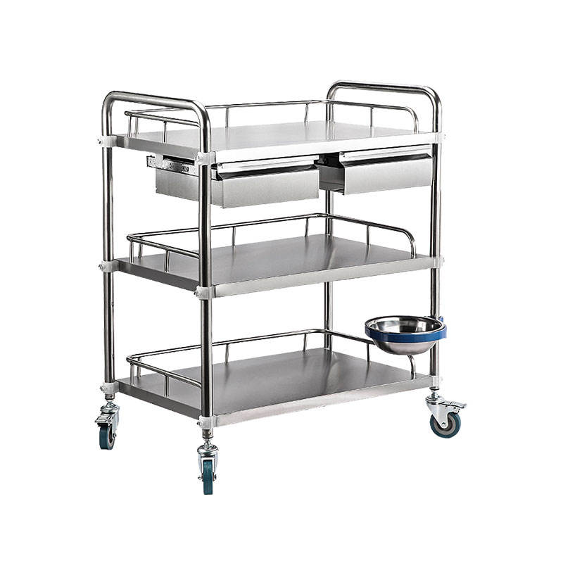 Hospital Surgical Instrument Trolley Stainless Steel Dressing Trolley