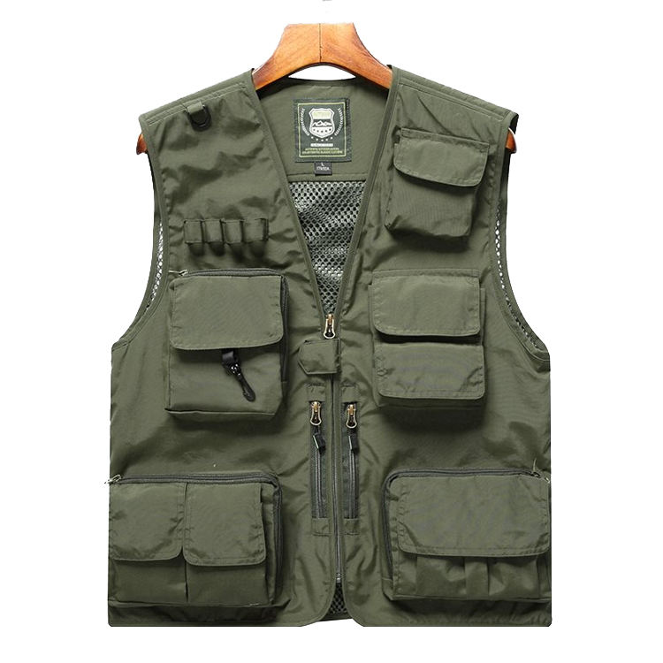 Logo Customization Windproof Vest Customized Air-mesh Fashionable Outdoor Work for Men