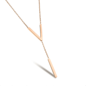 Korean Style IP Rose Gold Plated Stainless Steel Necklace