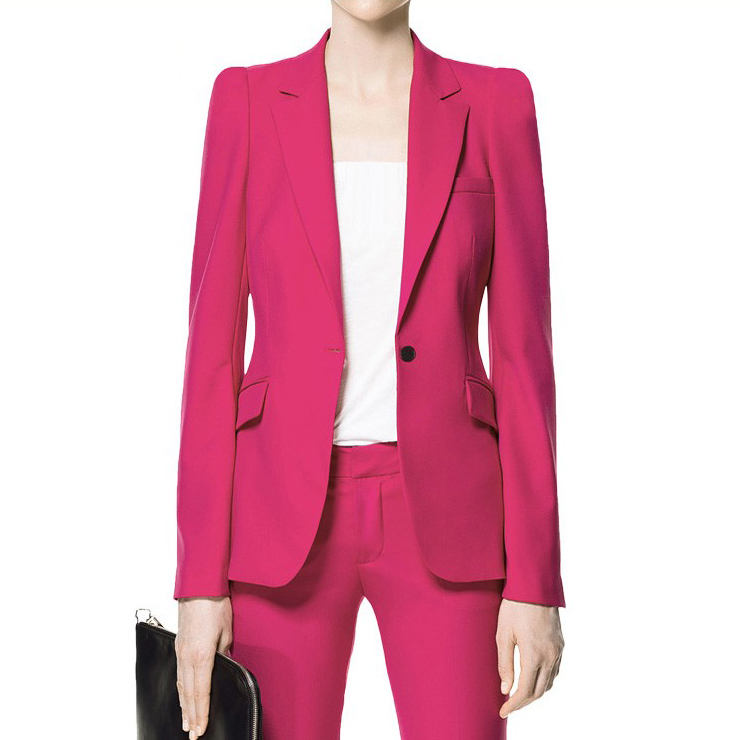 Blazer Women Latest Designs Ladies Suit Woolen Red Women Tuxedo Suits