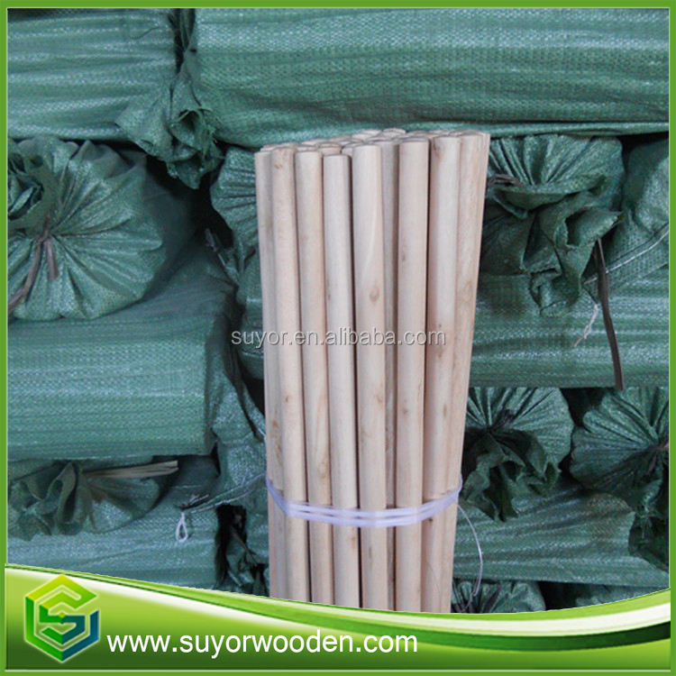 Hot Sell Wood Broom Stick 150センチメートルSmooth Surface、Raw Material For Brooms And Mops