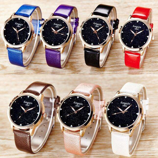 Free shipping fashion lady watch charm type quartz watch leather band watch hot sale LLW039