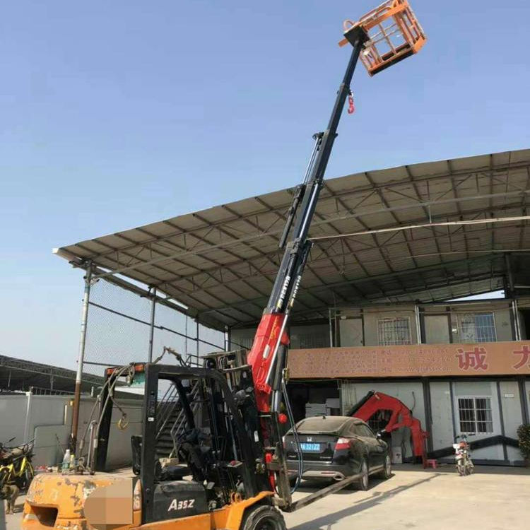 5ton capacity Forklift Mounted Cranes sales in Japan