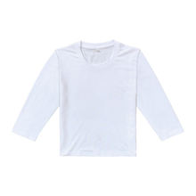 100% polyester unisex blank kids long sleeve t shirt  wholesale  sublimation Custom printing blank t-shirt