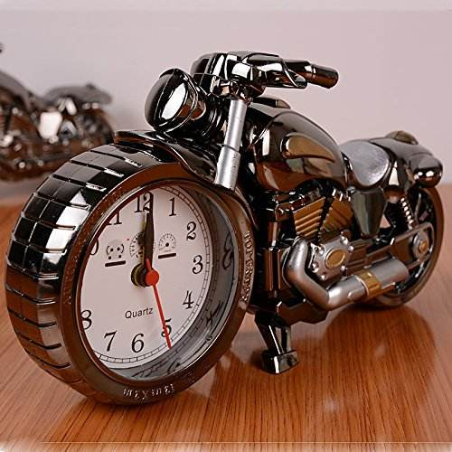 Vintage Mini Motorcycle/Bicycle Model Alarm Clock Battery Powered desk shelf clock Creative Christmas Gifts