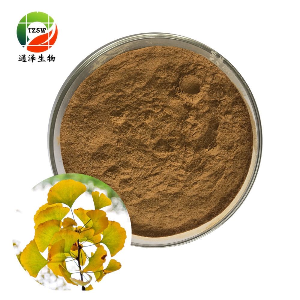 Manufacturer Offer Pure Organic Ginko flavones Terpenlactone Ginkgo Biloba Leaf Extract natural ginkgo biloba extract powder