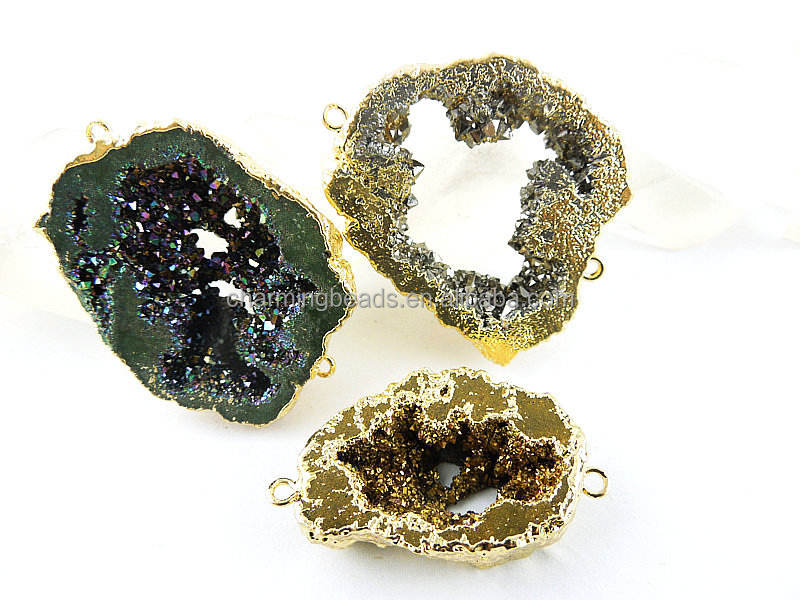 CH-LSB0822 Gold Coating jewelry connector,drusy stones connector,druzy drusy with plated