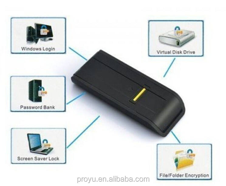 Security USB Biometric Fingerprint Reader Password Lock For Laptop PC Computer