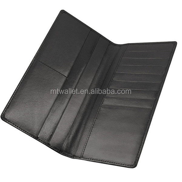 Genuine leather Jacket Slim Long Card Wallet