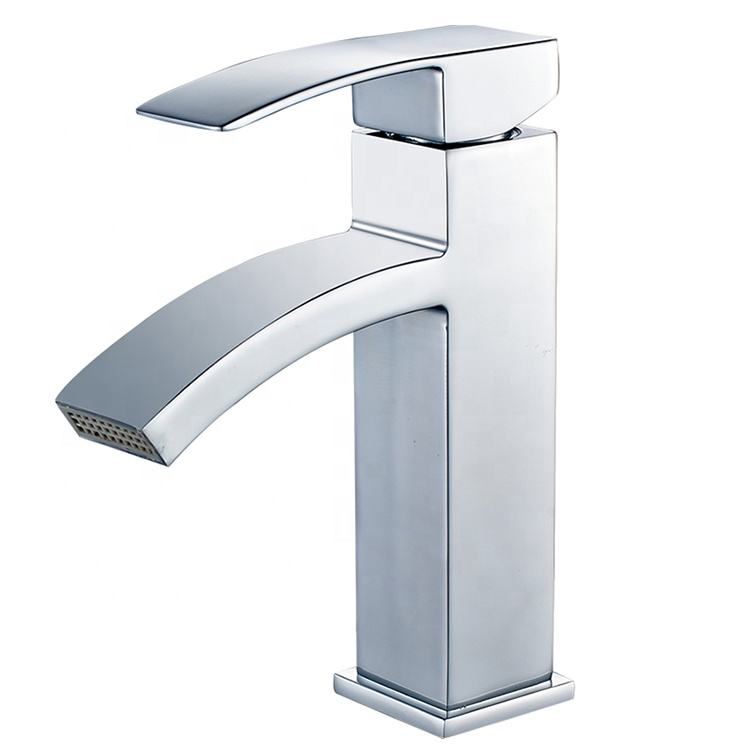 Hot sell cheap waterfall bathroom basin faucet chrome lavatory vessel sink faucet hot and cold water mixer taps