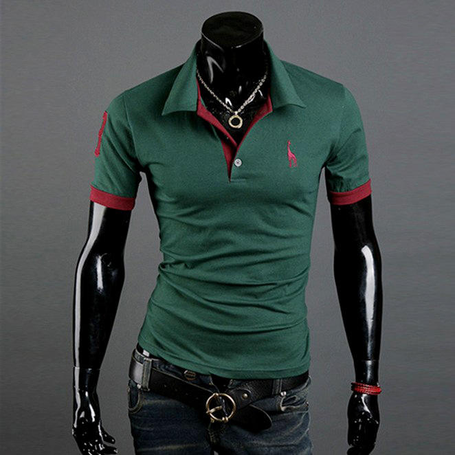 Mens Polo Size S M L XL 2XL 3XL 4XL 5XL Contrast Work Golf Shirt Top men's brand