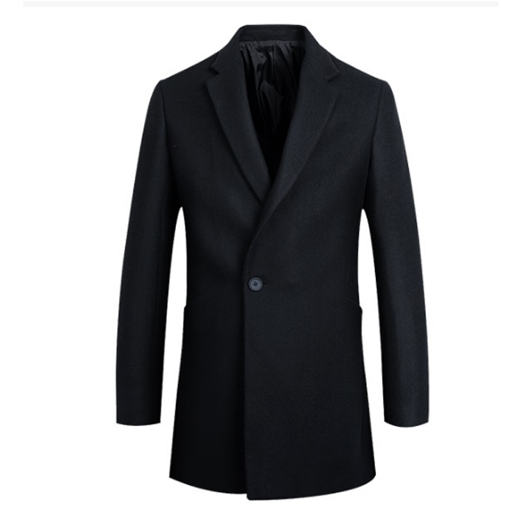 Professional high quality commercial mens winter wool long coat
