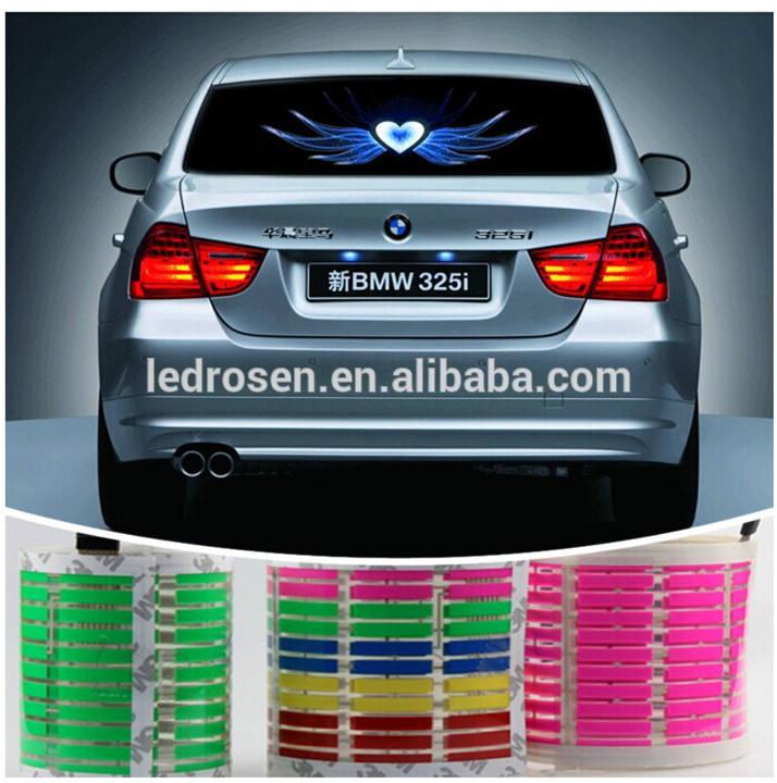multicolor 2014 suave de alta calidad de luz de música del coche de luz <span class=keywords><strong>led</strong></span> de sonido activado para igualar todos los coches