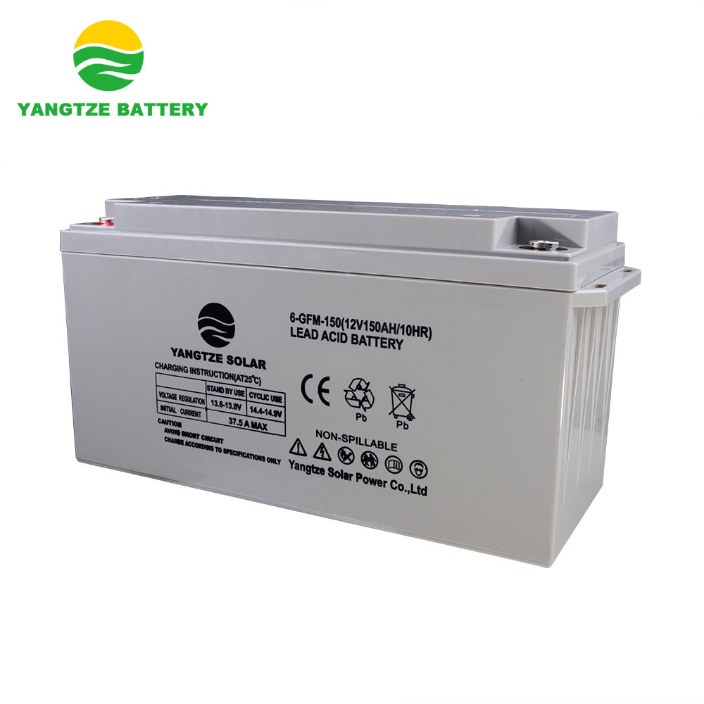 12v 150ah deep cycle lead acid for home battery storage