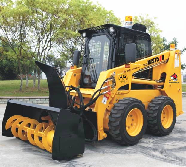 New 75hp Construction Machine Wheel Skid Steer Loader WS75 with Ce Fops Rops