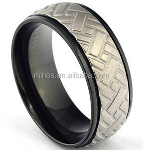 2015 New Trendy Black Titanium Car Tire Tread Ring