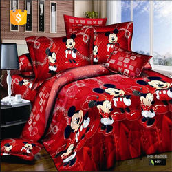 bedding set 100% cotton 3d bed cover cartoon printed bedding