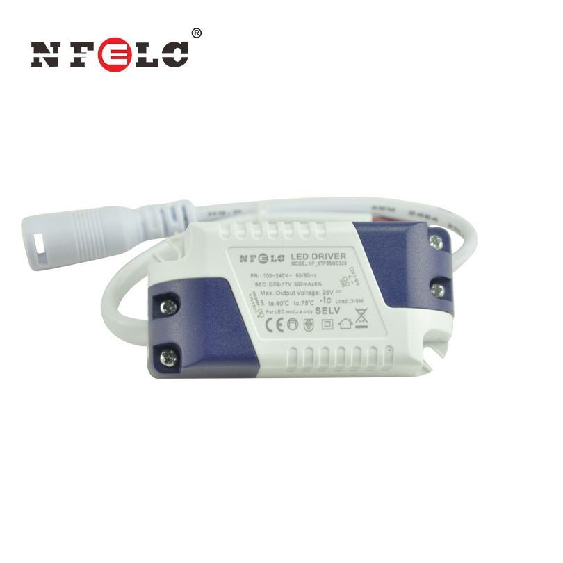 ce CB SAA constant current 3W 5W LED driver 300mA power supply