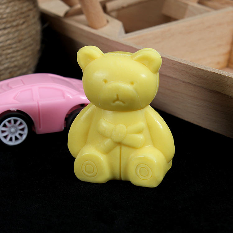 25g Nature 3D little bear animal shaped hotel bath soap gift soap for kids
